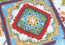 Crochet Savannah Afghan Block
