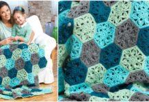Crochet Floral Throw