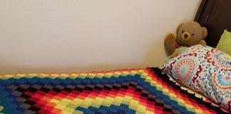 Crochet Delicate Colorful Blanket