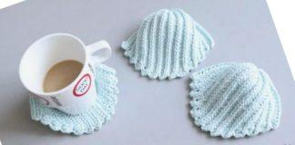 Crochet Easy Sea Shell Coasters