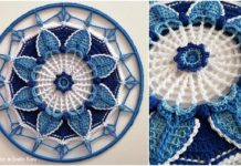 Crochet Crystal Cold Mandala