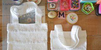 Crochet white Lace Bag
