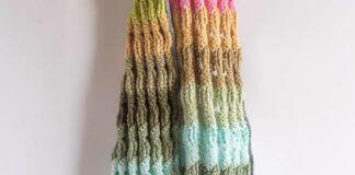 Crochet Fun Ripple Scarf With Tassels