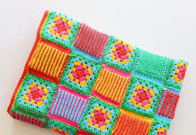 Crochet Granny Brioche Blanket