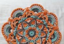 Crochet mandala decorative satu